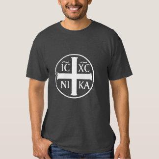 Christogram ICXC NIKA Jesús conquista al cristiano Camisas