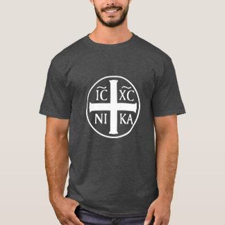 Christogram ICXC NIKA Jesús conquista al cristiano Playera