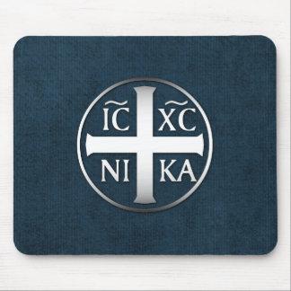 Christogram ICXC NIKA Jesús conquista Alfombrillas De Raton