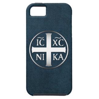 Christogram ICXC NIKA Jesús conquista iPhone 5 Case-Mate Protector
