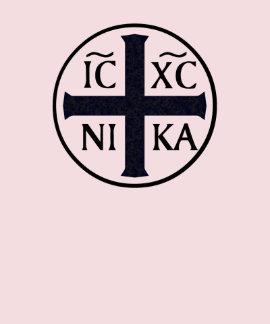 Christogram ICXC NIKA Jesús conquista religioso Poleras