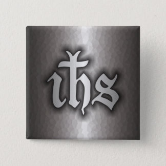 Christogram (IHS) Steel Button