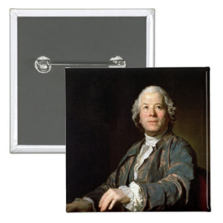Christoph Willibald Gluck  at the spinet, 1775 2 Inch Square Button