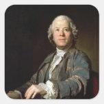 Christoph Willibald Gluck en el spinet, 1775 Calcomanías Cuadradas Personalizadas