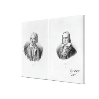 Christoph Willibald von Gluck  and Andre Canvas Print