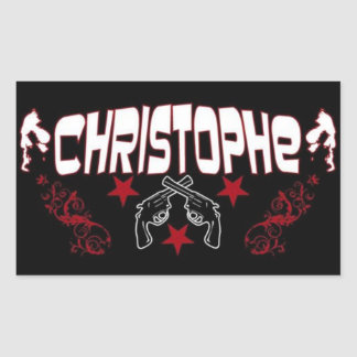 """Christophe"" Logo Stickers"