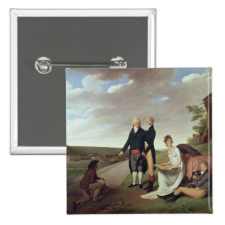 Christophe-Philippe Oberkampf and family Pinback Button