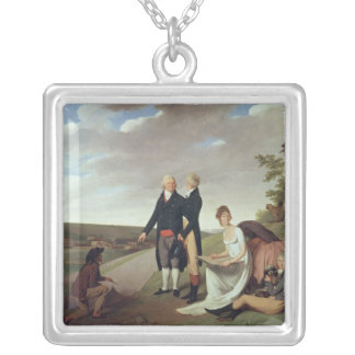 Christophe-Philippe Oberkampf and family Silver Plated Necklace