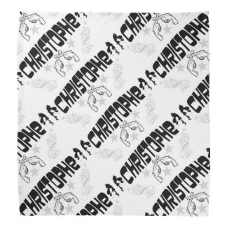 """Christophe"" White Bandana"