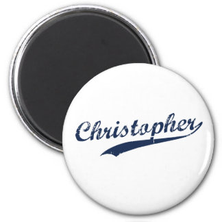 Christopher 2 Inch Round Magnet