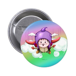 CHRISTOPHER CARTOON CUTE  Round Button Small 2¼ In