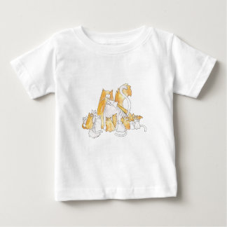 Christopher Cat and his family kittens Baby T-Shirt