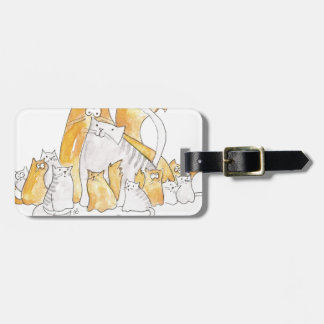 Christopher Cat and his Marvelous family Bag Tag