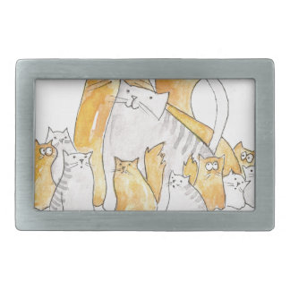 Christopher Cat and his Marvelous family Belt Buckle