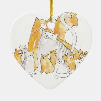 Christopher Cat and his Marvelous family Ceramic Ornament