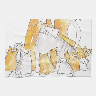 Christopher Cat and his Marvelous family Kitchen Towel