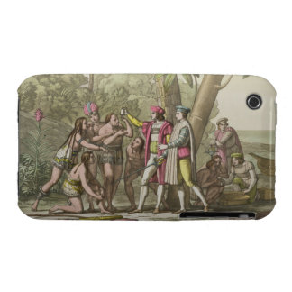 Christopher Columbus (1451-1506) with Native Ameri iPhone 3 Case-Mate Case