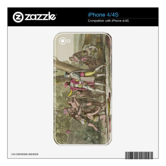Christopher Columbus (1451-1506) with Native Ameri iPhone 4 Decals