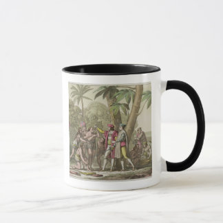 Christopher Columbus (1451-1506) with Native Ameri Mug