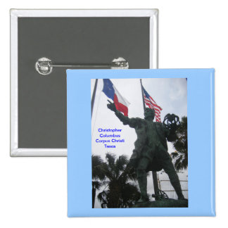 Christopher Columbus 2 Inch Square Button