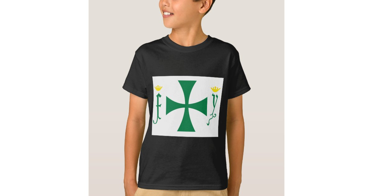 Christopher columbus flag t shirt zazzle for Columbus ohio t shirt printing