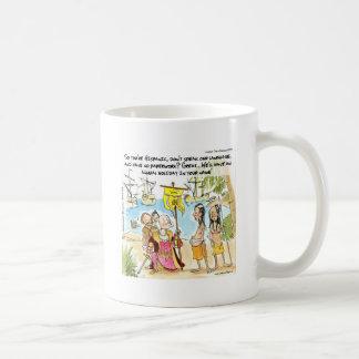 Christopher Columbus Immigrates To America Funny Coffee Mug