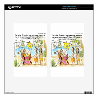 Christopher Columbus Immigrates To America Funny Decals For Kindle Fire