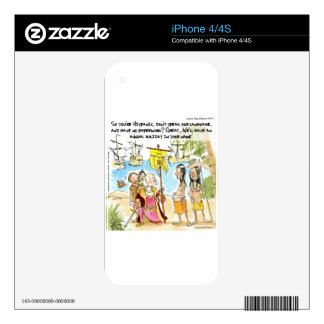 Christopher Columbus Immigrates To America Funny Skin For The iPhone 4
