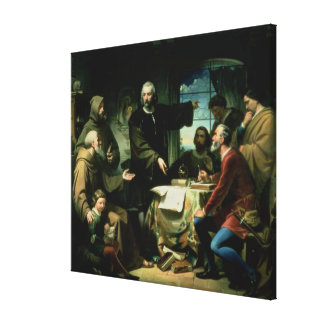 Christopher Columbus in the Monastery of la Canvas Print