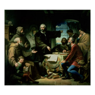 Christopher Columbus in the Monastery of la Print