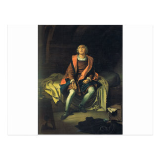 Christopher Columbus paint by Antonio de Herrera Postcard