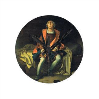 Christopher Columbus paint by Antonio de Herrera Round Clock