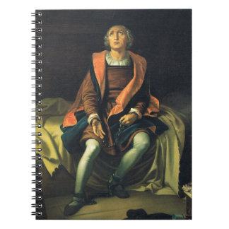 Christopher Columbus paint by Antonio de Herrera Spiral Notebook