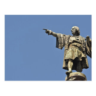 Christopher Columbus Statue Postcard