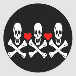 Christopher Condent-Hearts Classic Round Sticker