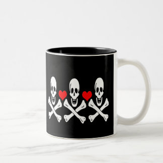 Christopher Condent-Hearts Two-Tone Coffee Mug