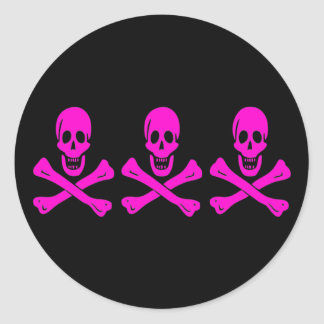 Christopher Condent-Pink Classic Round Sticker