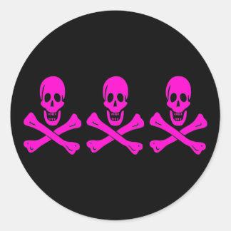 Christopher Condent-Pink Classic Round Sticker