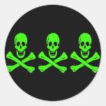 Christopher Condent-Verde Etiquetas Redondas