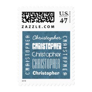 CHRISTOPHER conocido de encargo o CUALQUIE azul Sellos Postales