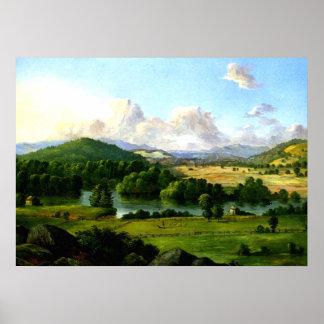 Christopher Cranch: Río que corre entre los pastos Póster