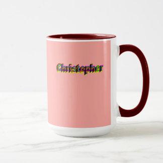 Christopher customized coffee mug