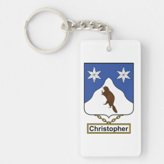Christopher Family Crest Keychain