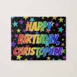 "[ Thumbnail: ""Christopher"" First Name, Fun ""Happy Birthday"" Jigsaw Puzzle ]"
