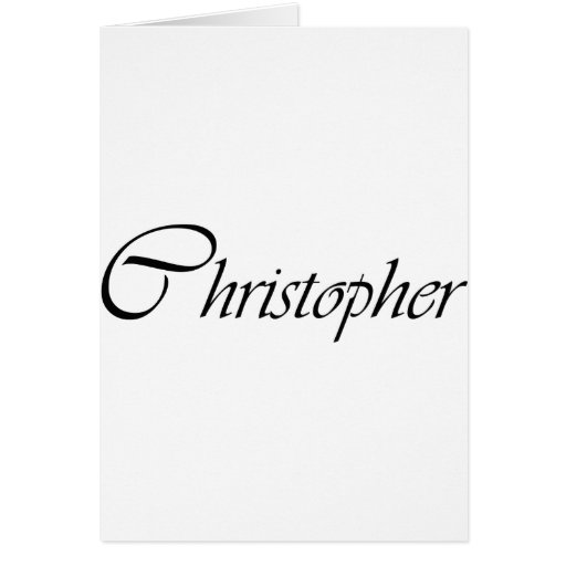 Christopher Greeting Cards