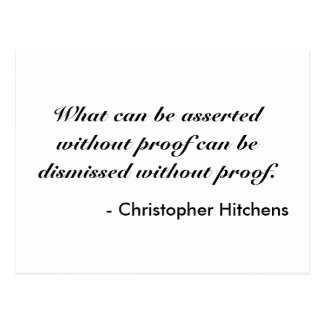 Christopher Hitchens Postcard