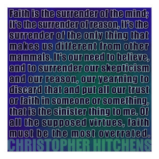 Christopher Hitchens   Surrender of Reason Poster