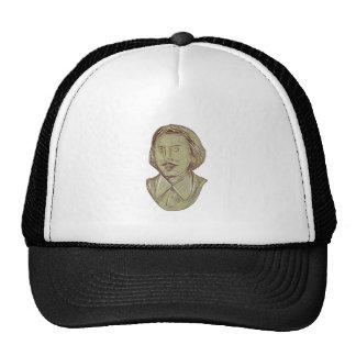 Christopher Marlowe Bust Drawing Trucker Hat
