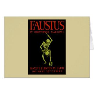 christopher marlowe faustus greeting card
