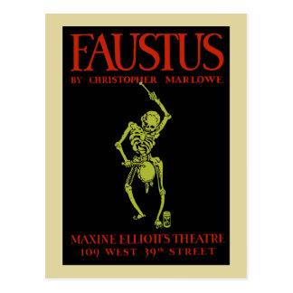 christopher marlowe faustus postcard